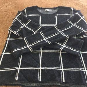 Madewell Merino Wool checker Sweater
